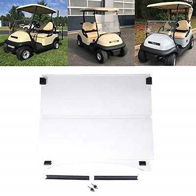 kemimoto Golf Cart Windshield Fits Club Car Precedent 2004-UP Clear Fold Down CC