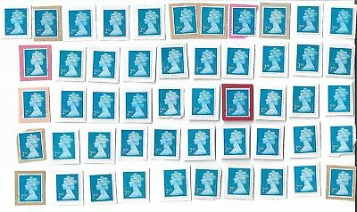 50 Unfranked Second 2nd Class Security Stamps on paper (Batch 1)
