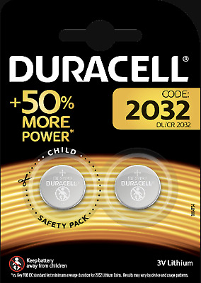 100% GENUINE 2 x DURACELL CR2032 3V LITHIUM BUTTON BATTERY COIN CELL DL/CR 2032