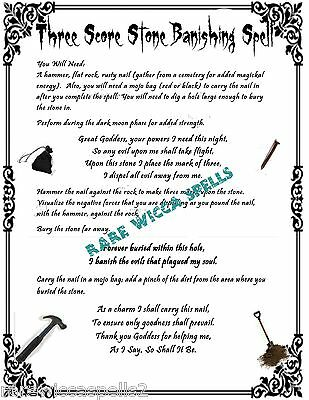 BANISHING HEX CURSE Breaker 1 Parch Spell pg fr Wicca Book of Shadows  Rituals