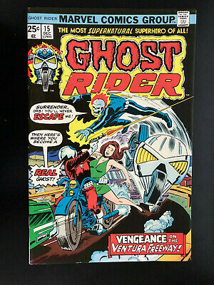 Ghost Rider #15/Classic Early Ghost Rider!/VF+/1975/High Grade!