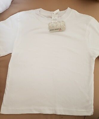 5 x BOYS / GIRLS NEW WHITE T SHIRTS 5 - 6 YRS fayre / holiday/ party / tie dye