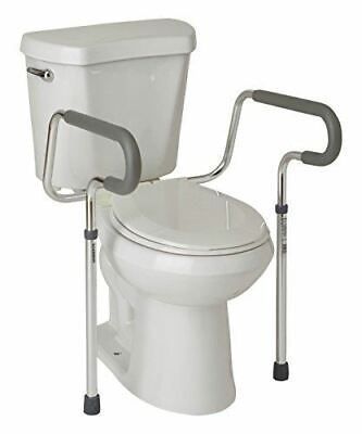 Medline's Guardian Toilet Safety Rail with Adjustable Height for Bathroom Safety