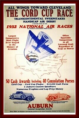 1932 NATIONAL AIR RACE Rf38-VINTAGE POSTER REPRINT A3+(*) (BR*)