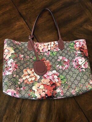 eeef286acd227f PRICE REDUCED* GUCCI GG Blooms Medium Reversible Leather Tote ...