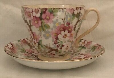 Shelley Maytime Cup and Saucer Chintz Floral