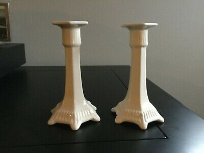 """Adams England Ironstone Candle Holders   Pair of 6"""" Candle Holders"""