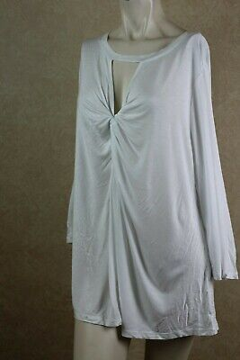 7c059f5adfd7f INC International Concepts Plus Size Twist-Front Top Bright White 2X     B15A2