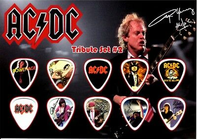 Ac/dc  -  Angus Young  *2* - A5 Size  - Guitar Pick Display