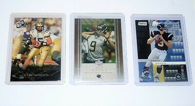 3 X Drew Brees Rookie Cards Rc