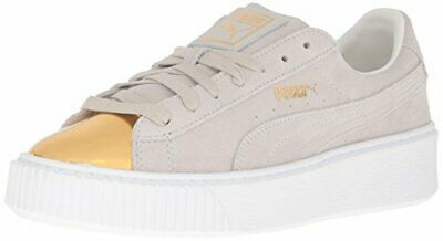 1df14bf9c9f1 NEW PUMA PLATFORM Suede Gold Star White Women s Shoes 100% Authentic ...