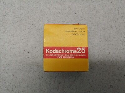 Kodachrome 25 Colour Moving Image Film 8mm expired