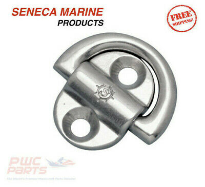 "SENECA Marine Heavy Duty Folding Pad Eye 316 Stainless 1/4"" 5/16"" 3/8"" S3712-000"