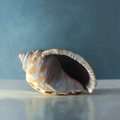 Seashell - Nautical Ocean Beach Art Still Life Original Oil Painting