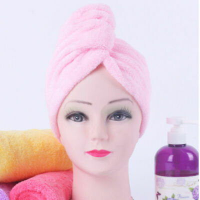Exquisite Microfibre Hair Drying Turban Bath Towel Wrap Hat Absorbent Towel LV