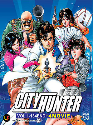 Anime DVD:City Hunter Complete Box (Vol.1-134 End + 4 Movie) Eng_Sub + Bonus DVD