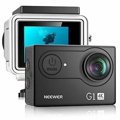 Neewer G1 Ultra HD 4K Action Camera 12MP, 98 ft Underwater Waterproof Camera 170