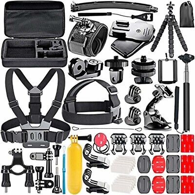 Neewer 53-In-1 Accessory Kit for GoPro Hero 7 6 5 4 3+ 3 2 1 Hero Session 5 Blac