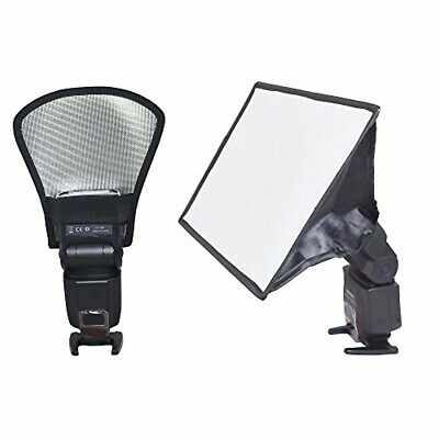Bestshoot Flash Diffuser Reflector and Softbox Kit, Two-Side Silver/White Univer