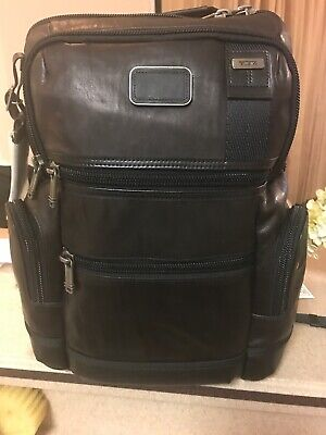 e76e75c27 Tumi LEATHER Alpha Bravo Knox Black Business Backpack Carry-on Laptop Bag  Brief