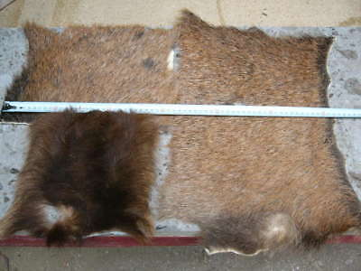 Tanned off cuts of Red Deer hide suitable art craft fly tying fishing