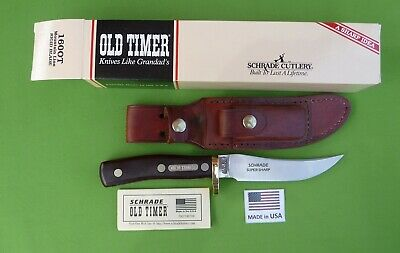 """Schrade USA 160OT Old Timer """"Mountain Lion"""" MIB with Sheath & Papers"""
