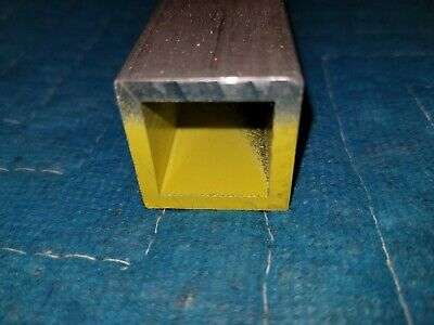 8 inches long 1 inch x 1 inch  1/8 inch wall Aluminum square tube 6063-T52