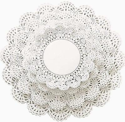 100 ct. Combo pack 5,6,8,10 inch (25 of each) Assorted Sizes Paper Lace Doilies