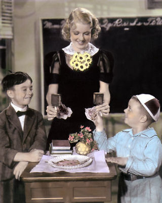 """ALFALFA SPANKY THE LITTLE RASCALS OUR GANG 8x10"""" HAND COLOR TINTED PHOTOGRAPH"""
