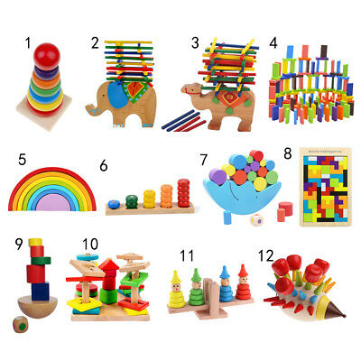 Baby Educational Toys Wooden Puzzle/ Block/ Balance Game Montessori Toy Kid Gift