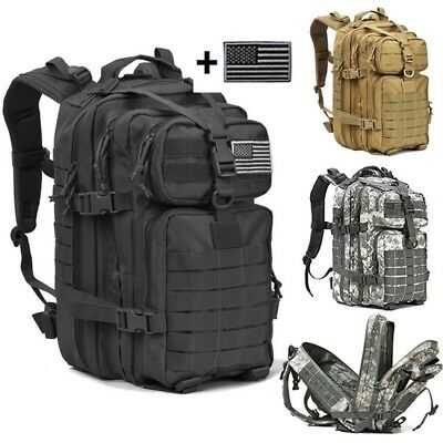 1f68352c02 40L Military Pack Backpack Army Molle Waterproof Bug Bag Outdoor Hiking  Camping