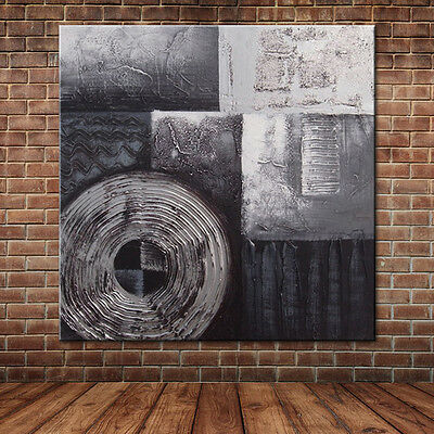 Modern Painting Hand Painted Abstract Black and White Oil Painting On Canvas Art
