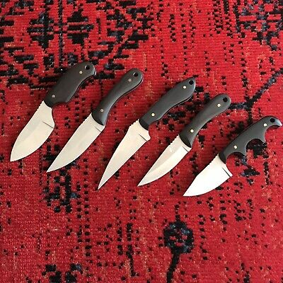 Camping Knife Set Hunting Skinning Boning Utility Stainless Steel Fixed Blade