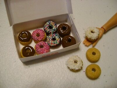 Barbie Dollhouse Food Dunking Donuts  Handcrafted with box NEW