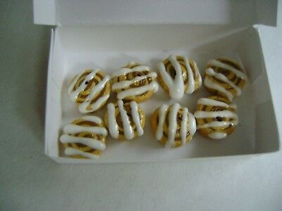 Barbie Dollhouse Food Cinnamon Buns Rolls Handcrafted with box NEW