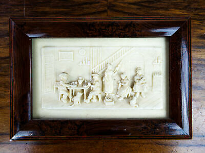 Vintage Signed Bas Relief Limestone C F Becker Carved Wall Art Sculpture French