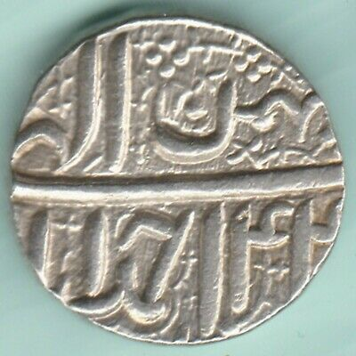 Mughal India  Mohammed Akbar  Ahmedabad Mint One Rupee  Rare Silver Coin
