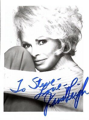 JANET LEIGH AUTOGRAPHED SIGNED 3x5 PHOTO w/COA PSYCHO Touch of Evil To Steve