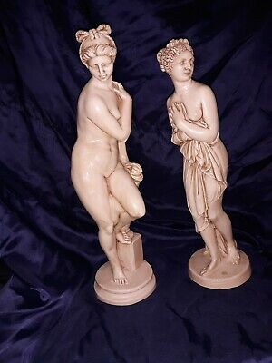 A. Santini Nude Ancient Roman or Greek Woman Statue Sculpture ITALY