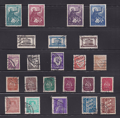 Lot of 23 Portugal Stamps - Mini Collection of Used Singles - Lot# PL22