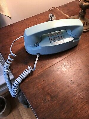 Vintage Western Electric Aqua Blue Model 2702 Princess Telephone.