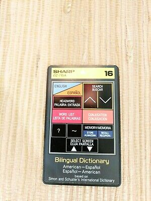 OZ-715A English/Espanol Bilingual Dictionary Sharp Organizer Wizard PDA IC Card
