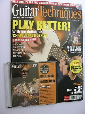 GUITAR TECHNIQUES + CD April 2008 Albert King Robben Ford Alex Skolnick Killers