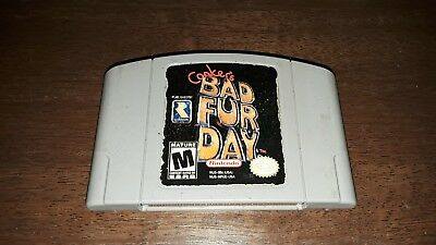 Conker's Bad Fur Day (Nintendo 64, 2001) Cleaned / Tested / ☆Authentic N64☆