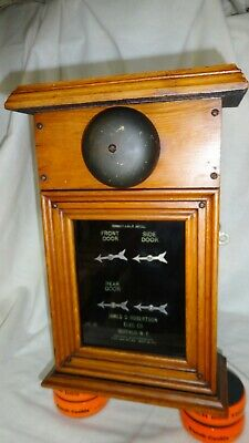 The Rare 'Perfect Annunciator' Electric Victorian Door Bell, Patented 1894