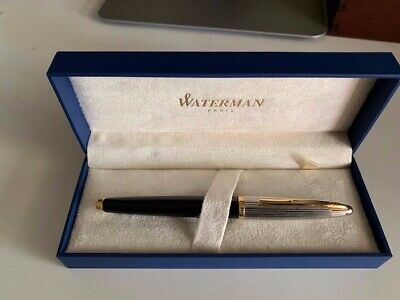 Waterman carene Black/Gold/Silver Medium Nib FP Used rrp $399.95 in box