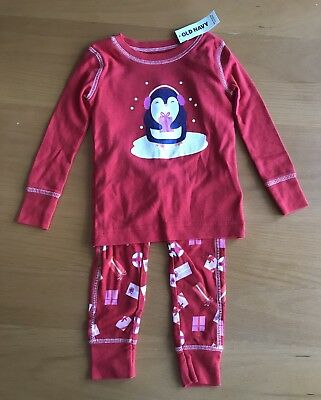 NEW Old Navy Baby Girl Holiday Penguin 2 Piece Sleepwear Pajamas 18-24  Months 8cbaf2970