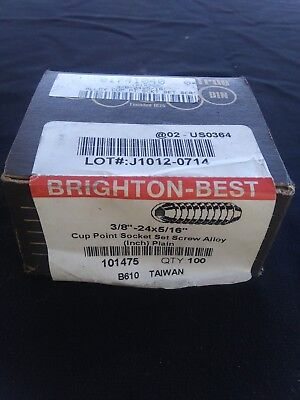 """100 Free Shipping Brighton-Best 10//32 X 1/"""" Socket Set Screws Cup Point NEW!!"""