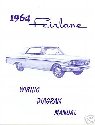 1964 64   Ford Fairlane Car  Wiring Diagram  Manual