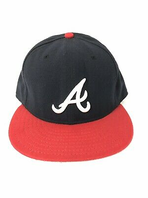 458a38a317a NEW ERA ATLANTA Braves HOME 59Fifty Fitted Hat (Dark Navy Red) MLB ...